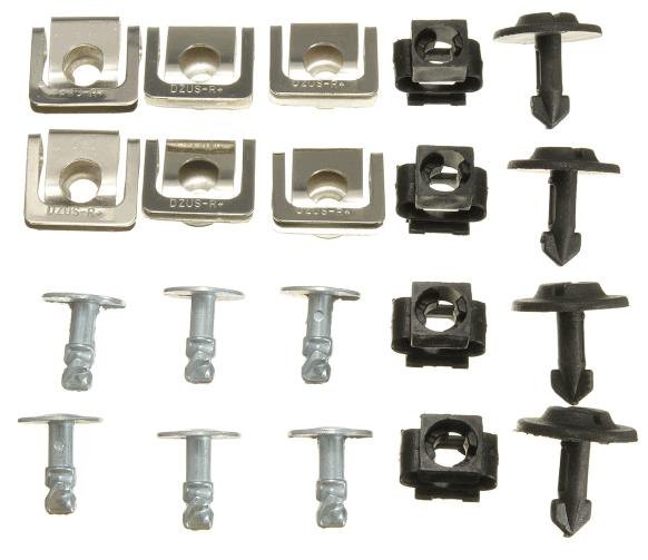 Audi undertray fastener clips