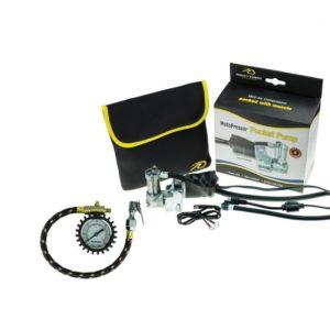 Motopressor pump and pressure gauge