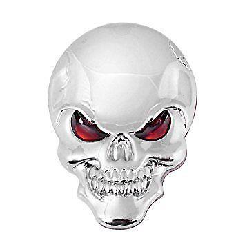 3D metal skull badge
