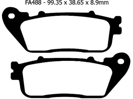 Honda Sintered Rear Brake Pads