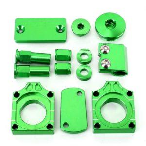 Kawasaki KXF/ KLX bling kits, Green Anodised Bling Kit