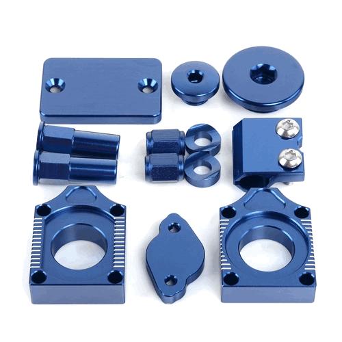 Yamaha YZF blue Anodised Bling Kit