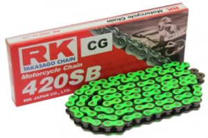 RK Green Drive Chain 124-Link With Spring Link