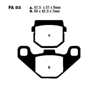 Brake pads  Standard EBC FA083TT