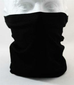 Neck tube Face Mask Scarf Hat - Black