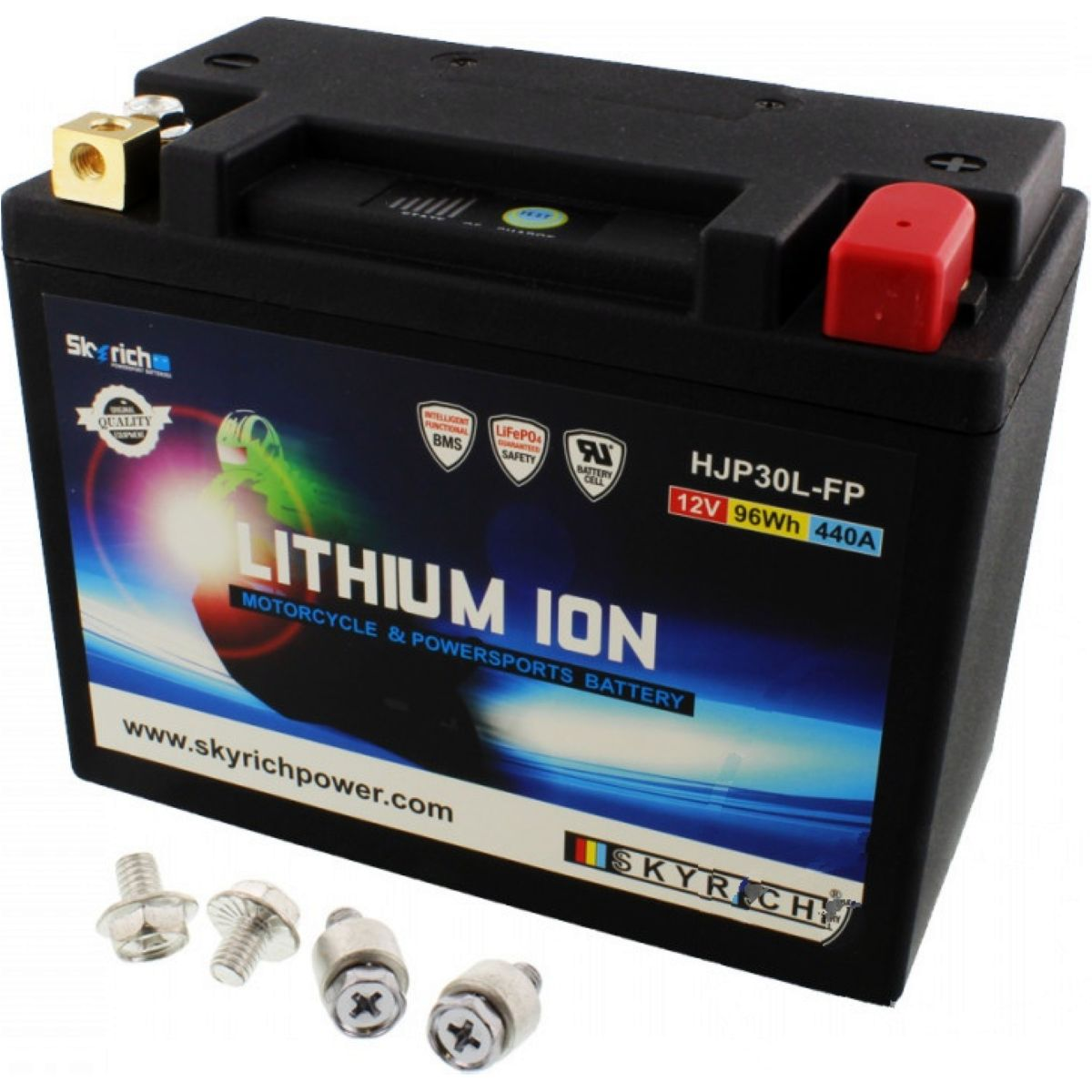 BATTERY MOTORCYCLE LTM30L SKYRICH LITHIUM ION WITH VOLTAGE DISPLAY AND OVERCHARGE PROTECTION