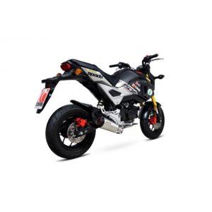 Scorpion full Steel Exhaust Honda MSX 125rear