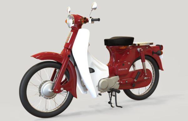Honda C90 red Complete Fairing / Plastic kit