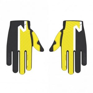 Yellow offroad gloves